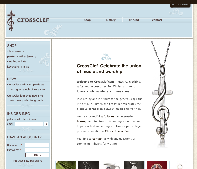 New CrossClef Site – Choir Gifts Celebrating Music and God
